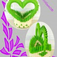 Origami 3d panier coeur