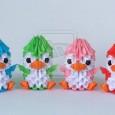 Origami 3d pingouin