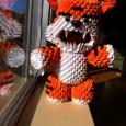 Origami 3d tiger