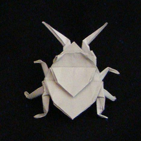 origami beetle folding instructions