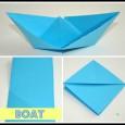 Origami boat square paper