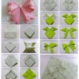 Origami bow diagram