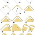 Origami chouette facile