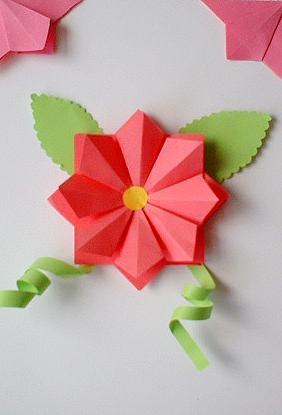 origami club flower