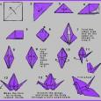 Origami crane diagram