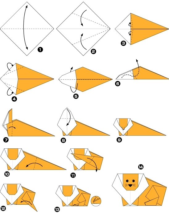 origami d'animaux facile