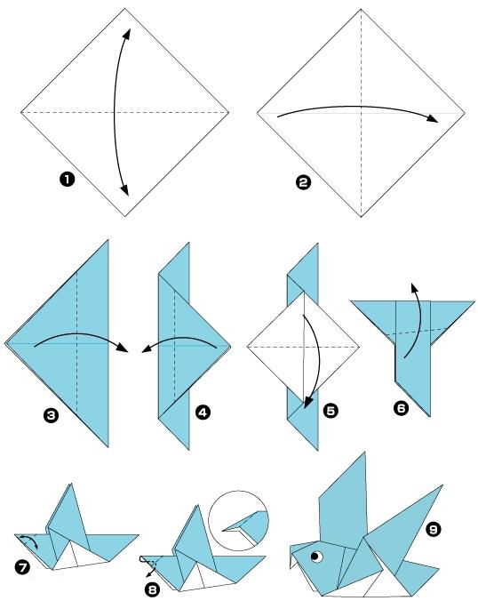 origami d'oiseau