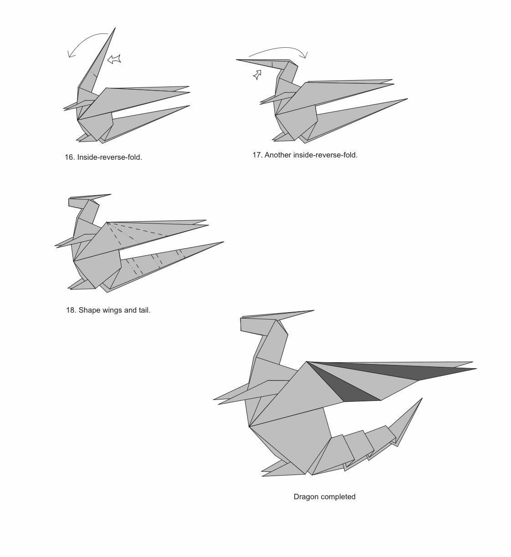 оригами дракон из бумаги схема картинки летних