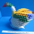 Origami duck 3d