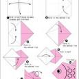 Origami easy fish