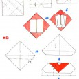 Origami enveloppe coeur