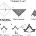 Origami facile chapeau