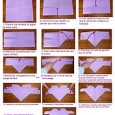 Origami facile coeur ailé