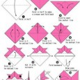 Origami fish diagram