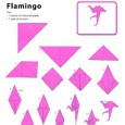 Origami flamingo instruction