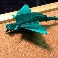 Origami flapping dragon