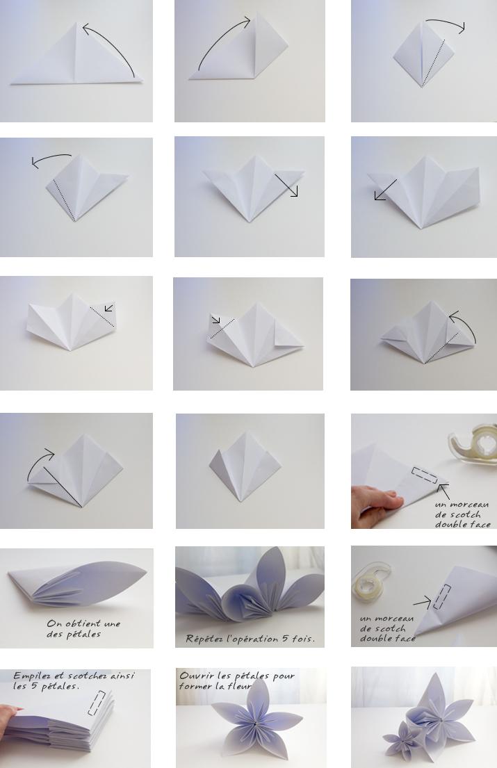 origami fleur tutoriel