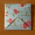 Origami flower envelope
