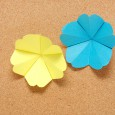 Origami flower flat