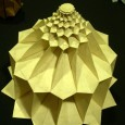 Origami flower tower