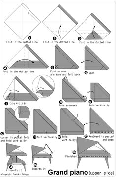origami grand piano instructions