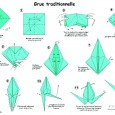 Origami grue traditionnelle