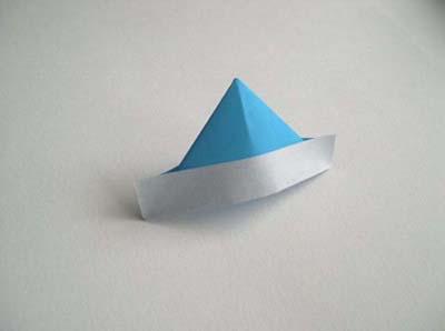 origami hat boat