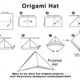 Origami hat diagram