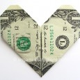 Origami heart money