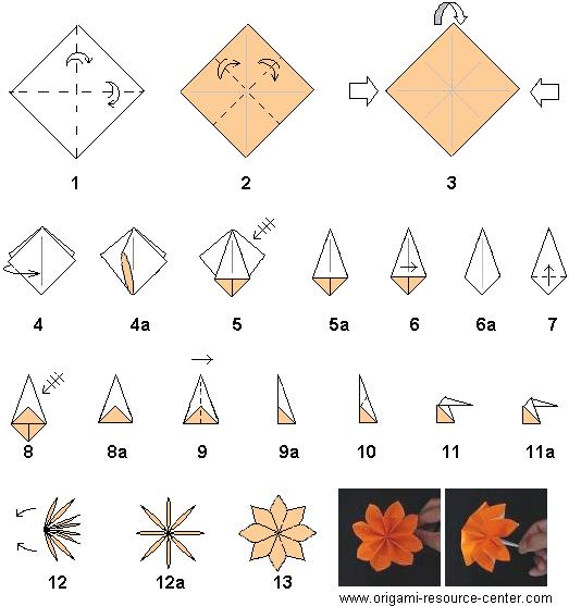 origami instructions flower