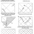 Origami lampshade diagram