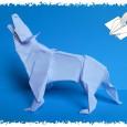 Origami loup tuto