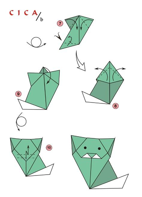 origami macska
