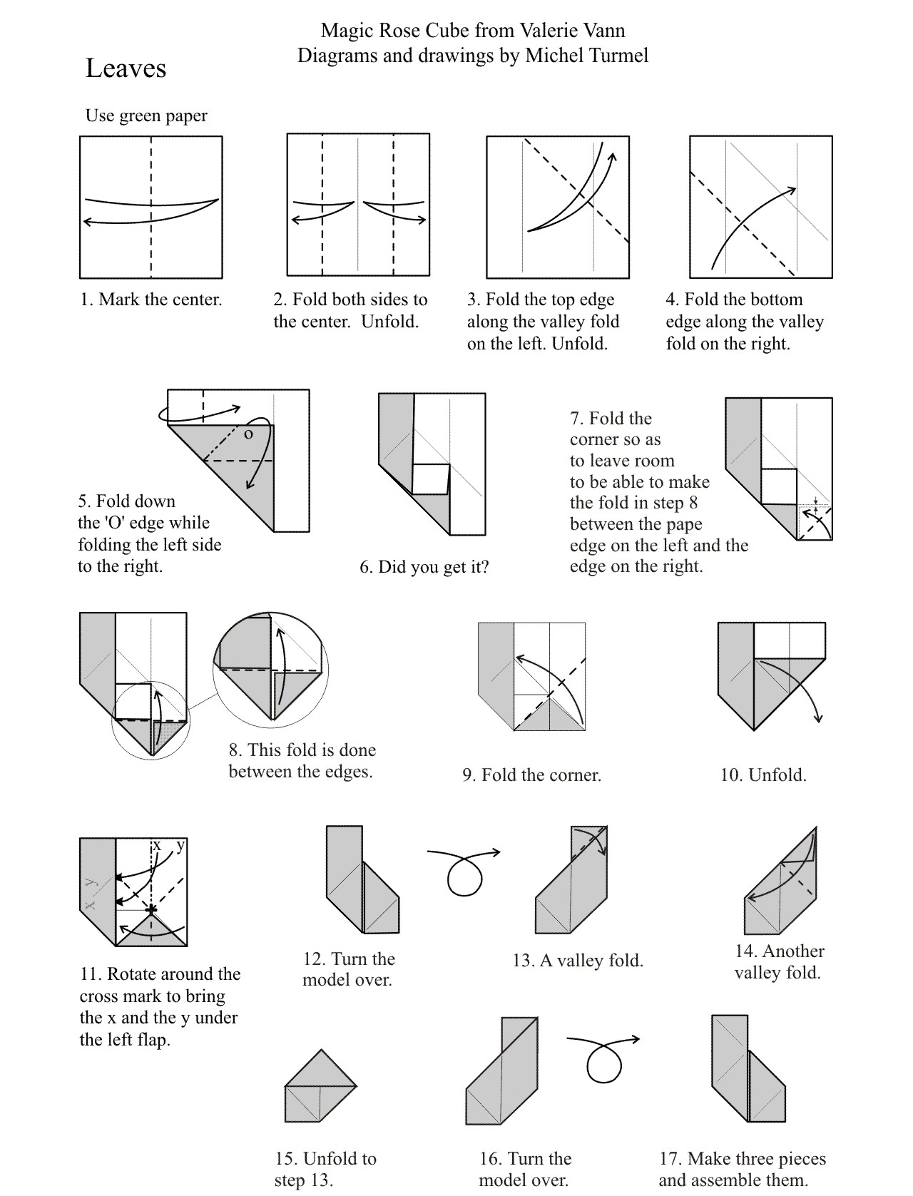 Magic Rose Cube Diagram Great Engine Wiring Schematic Origami Instructions Rh 1origami Com