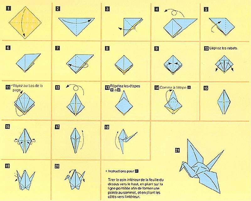 origami oiseau facile gratuit