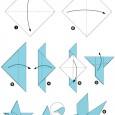 Origami oiseau simple