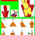 Origami panier de pâques