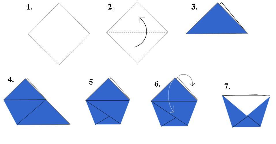 Оригами из бумаги кружка