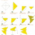 Origami papillon diagramme