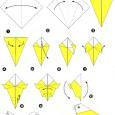 Origami perroquet facile