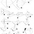 Origami poule en papier