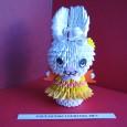 Origami rabbit 3d