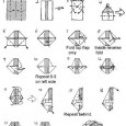 Origami robot diagrams