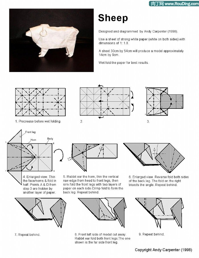 origami sheep instructions