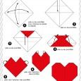 Origami simple coeur