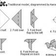 Origami simple oiseau