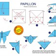 Origami simple papillon
