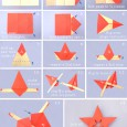 Origami star step by step