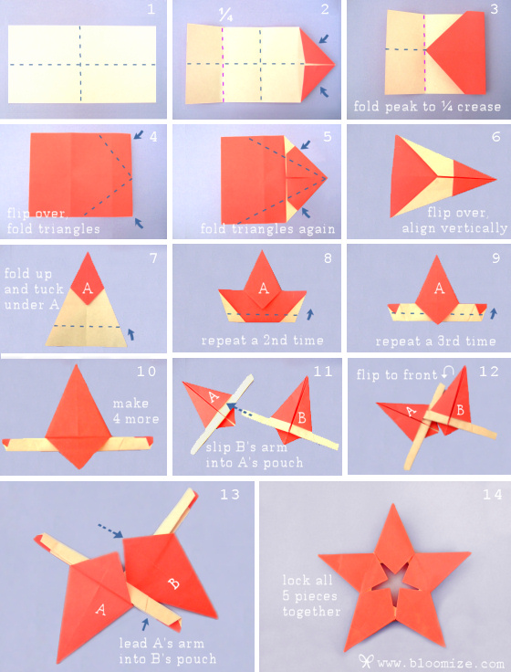 origami star step by step