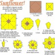 Origami sunflower diagram